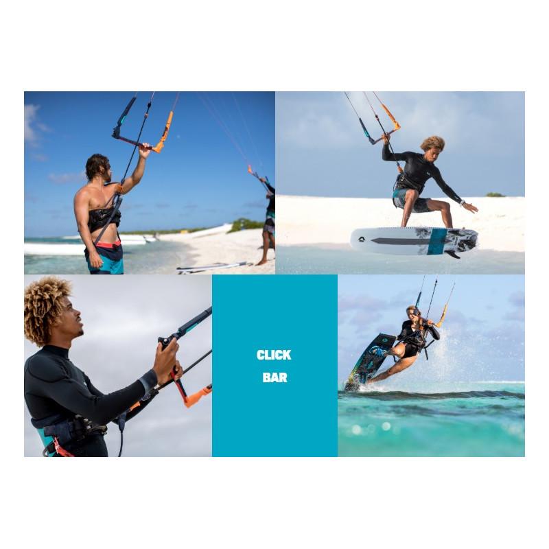 QUICK RELEASE FREESTYLE KIT DUOTONE CLICK KITE BAR QUAD CONTROL 22-24 METER Kitesurfen