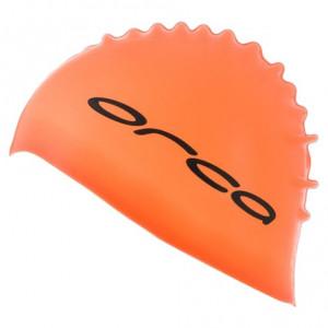 Orca Silicone Swimcap Bright Orange (one size)