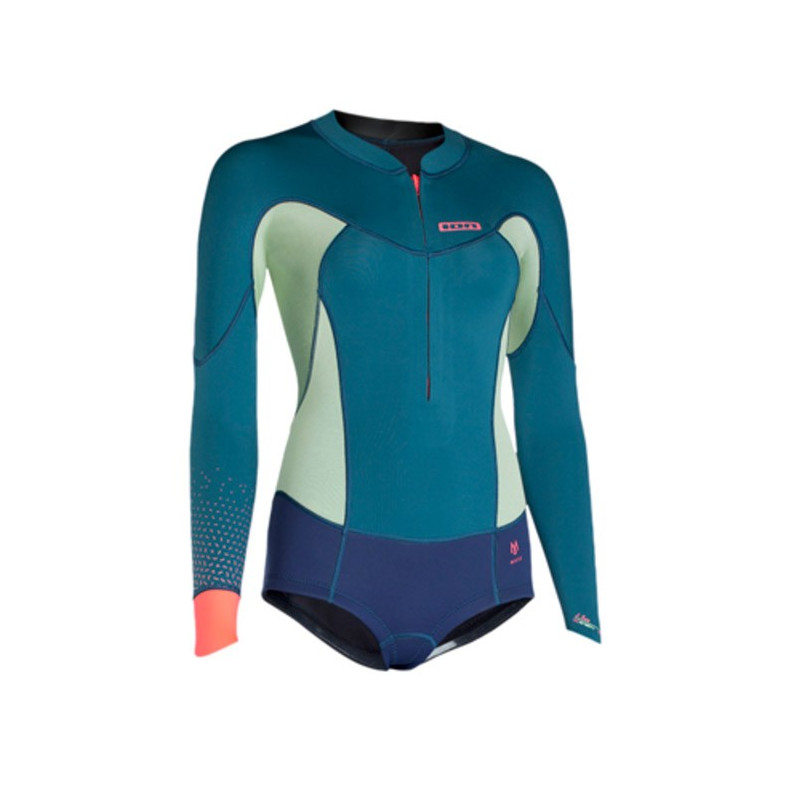 ION Muse Hot Shorty (frontzip) LS 2,0 DL Lemongrass/Blue