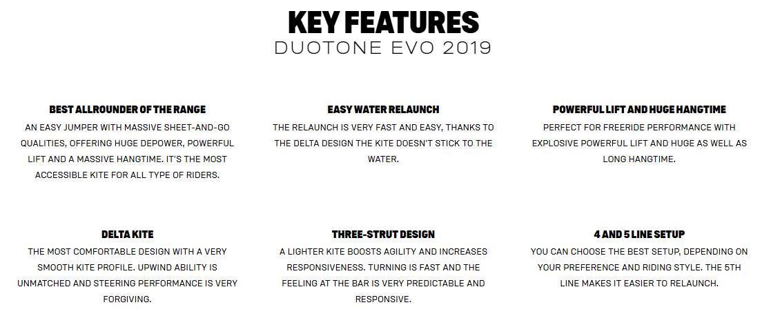 Evo Key Features