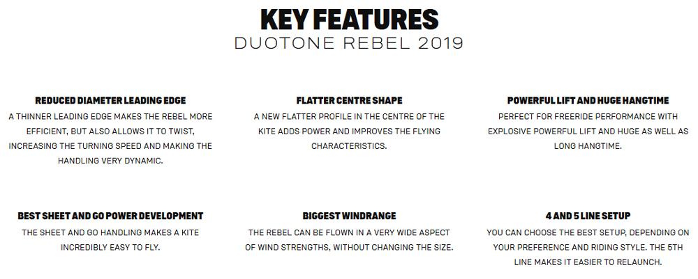 Rebel Key Features