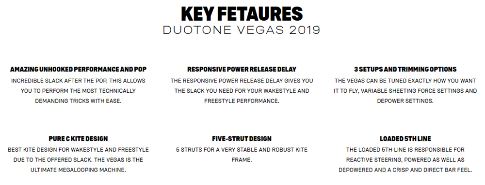 Vegas Key Features
